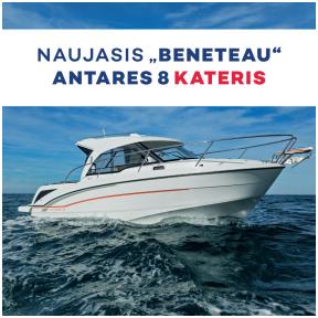 """,,Beneteau Antares 8"""" kateris yra itin svetingas savo šeimininkui."""