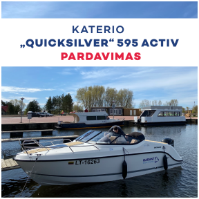 "Katerio ""Quicksilver"" 595 Activ pardavimas"