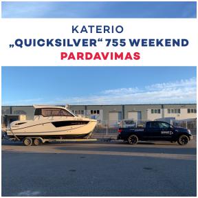 """Katerio """"Quicksilver"""" Weekend 755, OB pardavimas"""