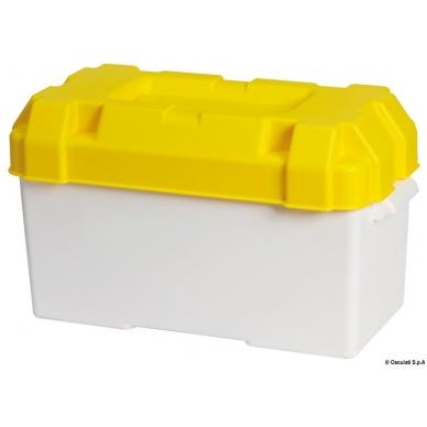 Geltona dėžė akumuliatoriui