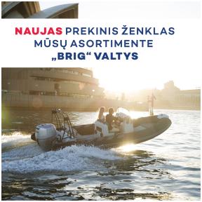 """Naujas prekinis ženklas """"BRIG"""" valtys"""