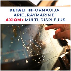 """Naujieji ,,Raymarine Axiom+"""" multifunkciniai displėjai"""