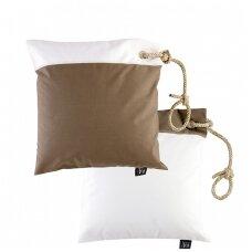 Neperšlampamų pagalvėlių rinkinys - balta ir ruda spalvos