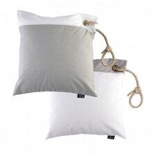 Neperšlampamų pagalvėlių rinkinys - balta ir šviesi pilka spalvos