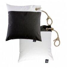 Neperšlampamų pagalvėlių rinkinys - balta ir tamsi pilka spalvos