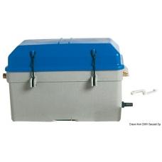 Nepralaidi vandeniui mėlyna akumuliatoriaus dėžė