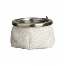 Peleninė su dangteliu Premium, smėlio spalva