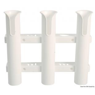 Plastikinis baltas meškerių laikiklis, 3 dalių