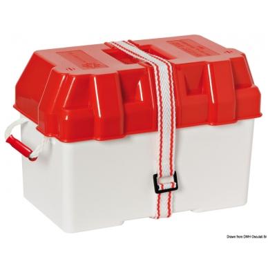 Raudona dėžė akumuliatoriui