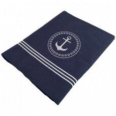 Santorini pagalvės ir antklodės užtiesalų rinkinys, mėlyna