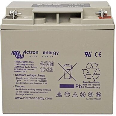 """Victron Energy"" akumuliatorius AGM Deep Cycle Batt. 12V/22"